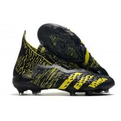 adidas Predator Freak + FG Firm Ground Black Yellow