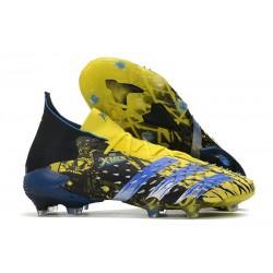 adidas Predator Freak.1 FG X-Men Wolverine - Bright Yellow Silver Metallic Core Black