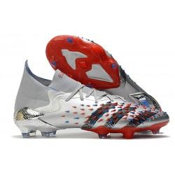 adidas Predator Freak.1 FG Boots Silver Metallic Core Black Scarlet