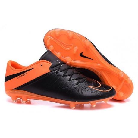 New 2015 Nike Hypervenom Phinish II FG ACC Shoes Black Orange