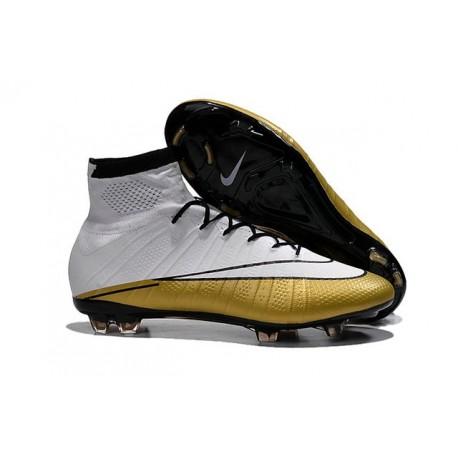 White Gold CR7 Nike Mercurial Superfly 4 FG Soccer Boot