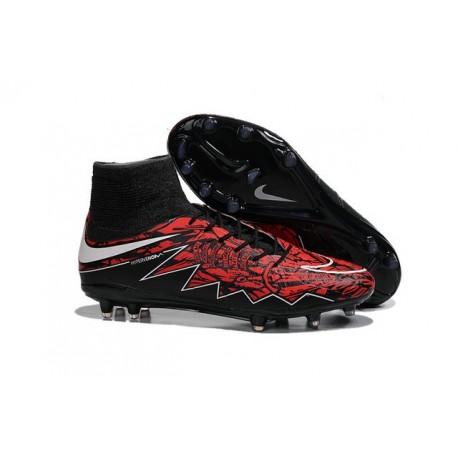 Nike Hypervenom Phantom 2 FG ACC 2016 Soccer Shoes Robert Lewandowski Red Black White