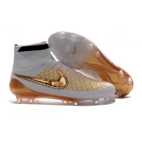 Nike 2016 Magista Obra FG ACC Football Shoes White Gold