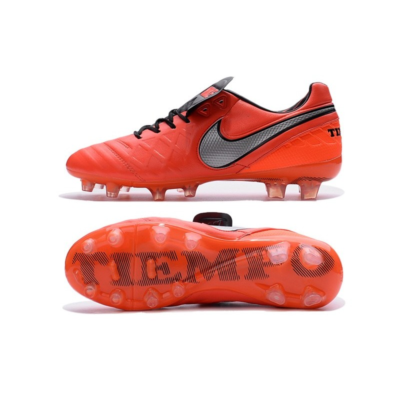 New 2016 Nike Tiempo Legend 6 FG Kangaroo Leather Boots Orange Black White