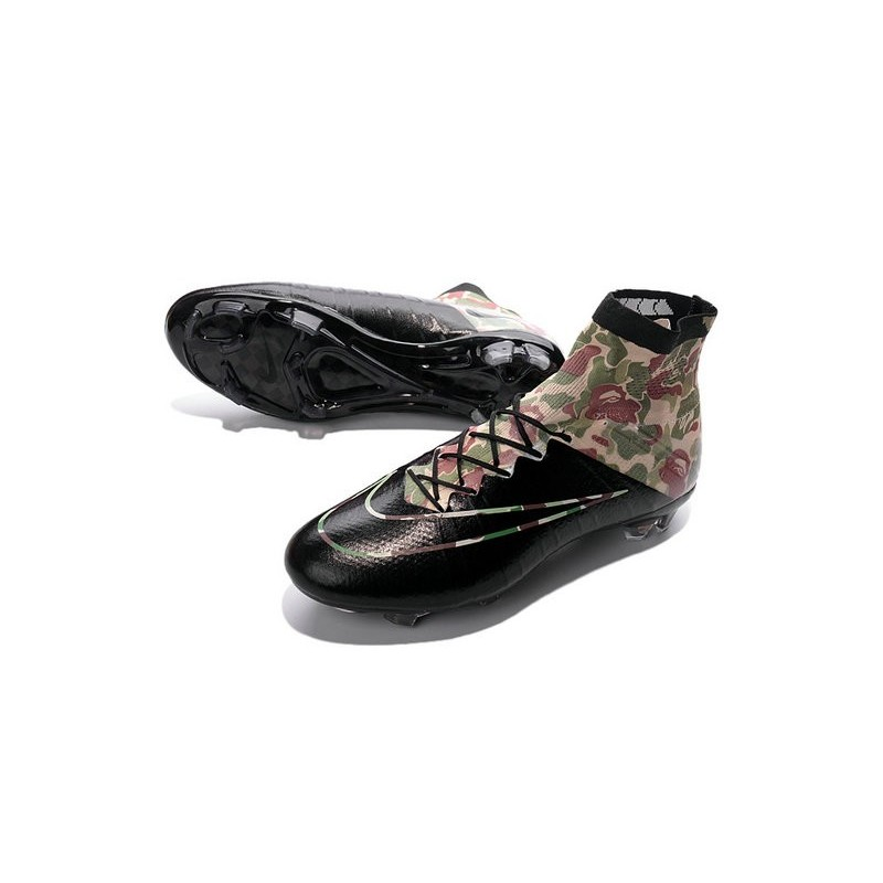 Cristiano Ronaldo Nike Mercurial Superfly 4 FG Shoes Camouflage Black