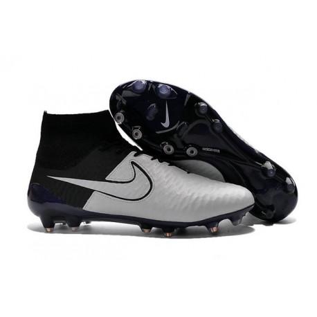 Top Football Boots 2016 Nike Magista Obra FG Leather White Black