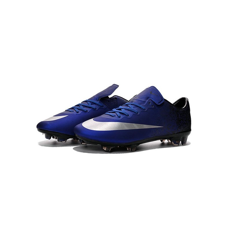 Ronaldo Nike Mercurial Vapor X FG Firm Ground Shoes Deep Blue