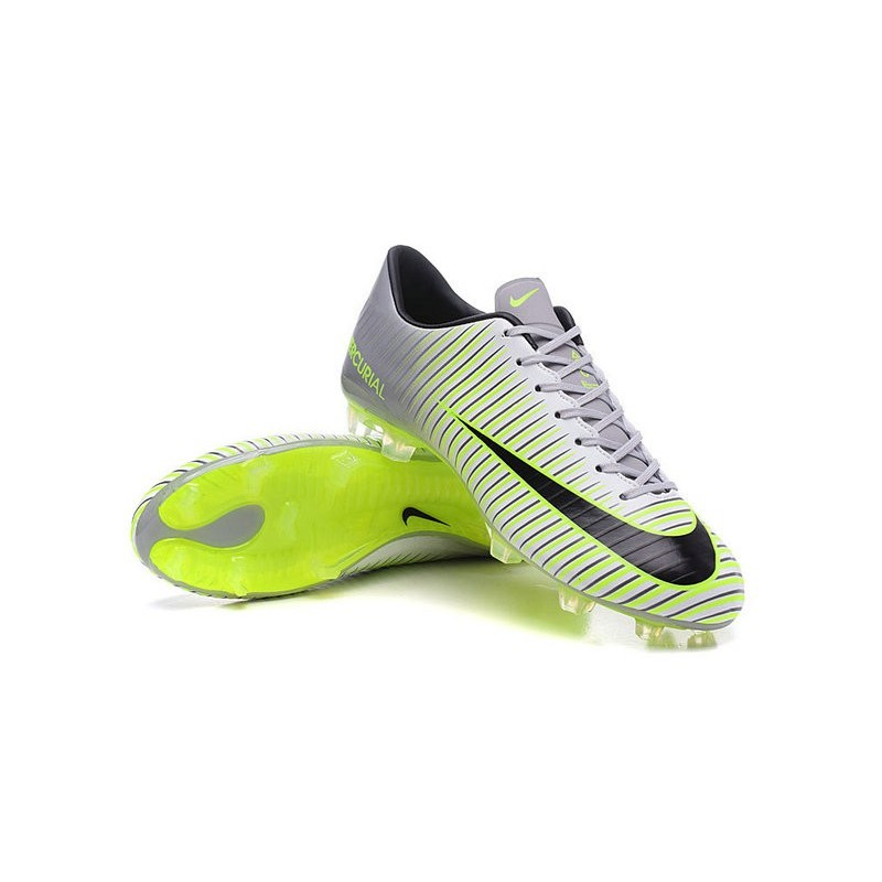 Nike Mercurial Vapor 11 FG ACC Mens Football Shoes Silver Green Black
