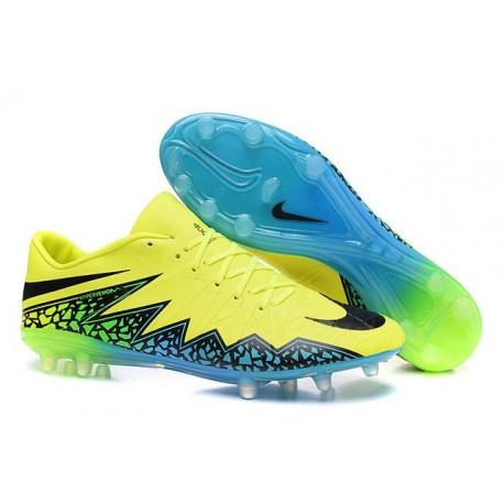 Nike Hypervenom Phinish FG ACC New 2016 Soccer Cleats Volt Black Turquoise