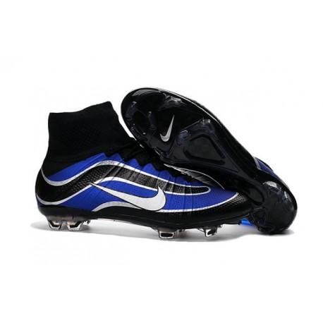 Newest Nike Nike Mercurial Superfly Heritage Football Cleats Blue Black White
