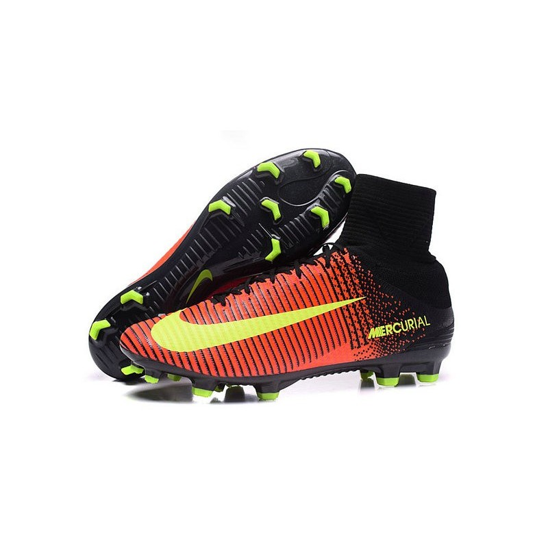 ffefc62aa4e Cristiano Ronaldo Nike Mercurial Superfly V FG Football Cleats Crimson Volt  Pink
