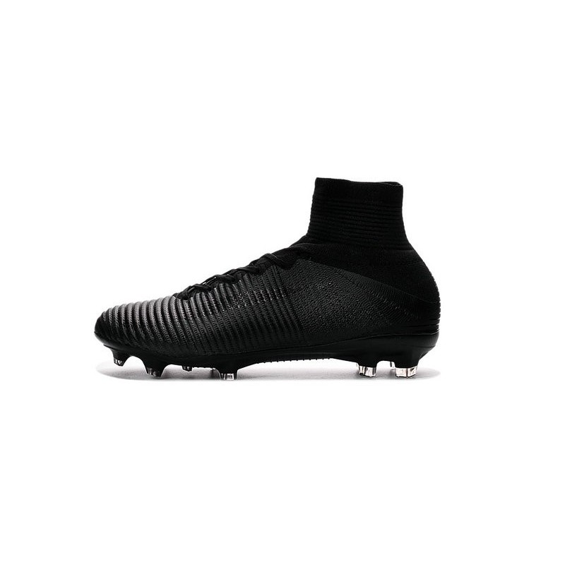 Cristiano Ronaldo Nike Mercurial Superfly V FG Football Cleats All Black