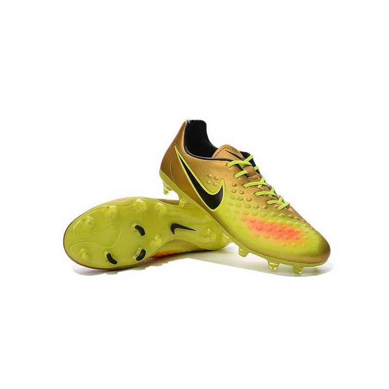Nike 2016 Magista Opus II FG ACC Football Boots Gold Volt Black