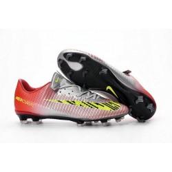 Nike Mercurial Vapor 11 FG ACC Mens Football Shoes Red Silver Yellow