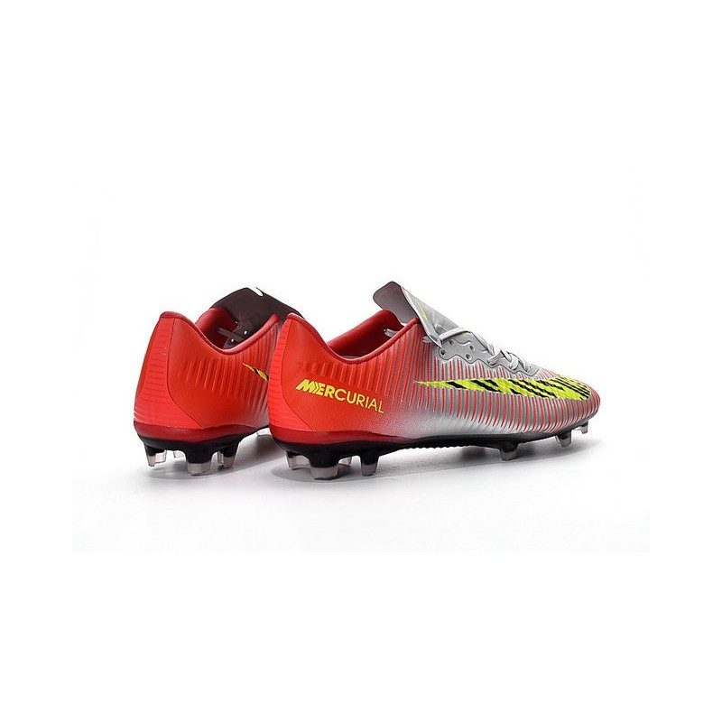 Nike Mercurial Vapor 11 FG ACC Mens Football Shoes Red Silver Yellow