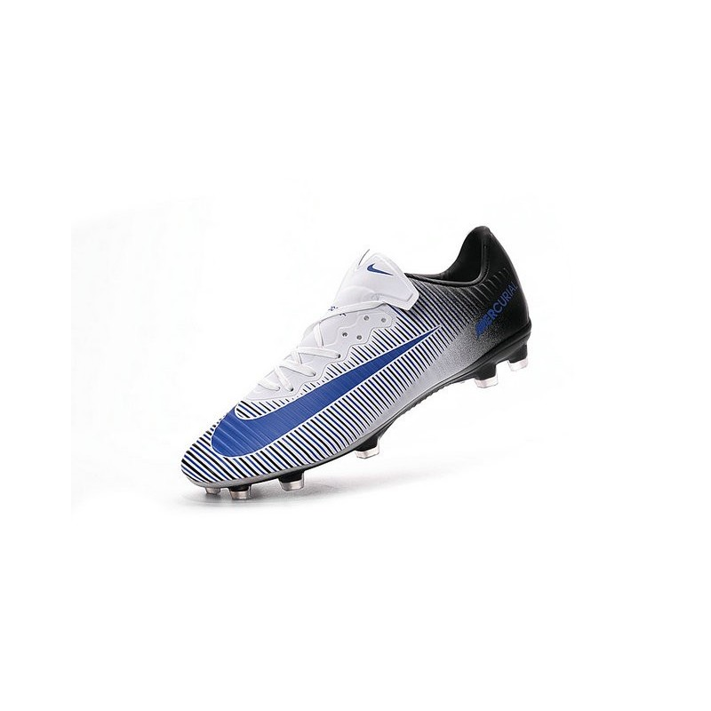 Nike Mercurial Vapor 11 FG ACC Mens Football Shoes White Blue Black