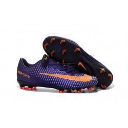 Nike Mercurial Vapor XI FG Firm Ground Soccer Shoes Purple Orange