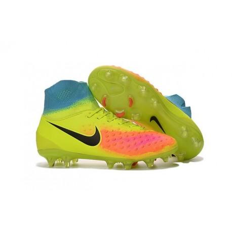 New 2016 Nike Magista Obra II FG ACC Soccer Cleats Volt Black Orange