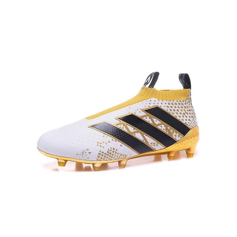 freír Aguanieve Escalera  adidas Stellar Pack Ace16+ Purecontrol FG Soccer Cleat White Gold
