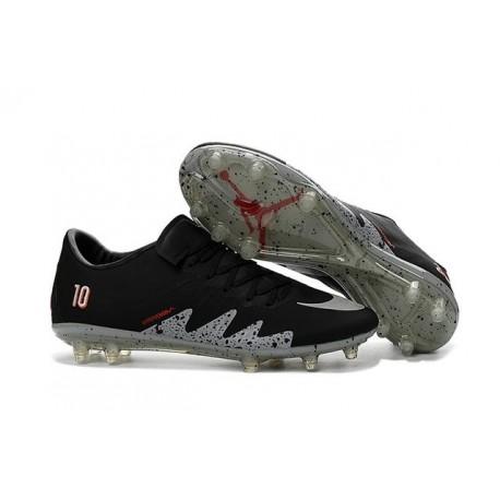 Nike Hypervenom Phinish Neymar x Jordan Football Cleat Black Silver