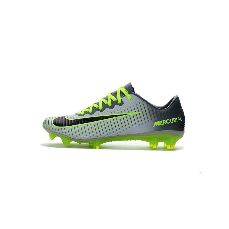 Nike Mercurial Vapor XI FG Firm Ground Soccer Shoes Platinum Black Green