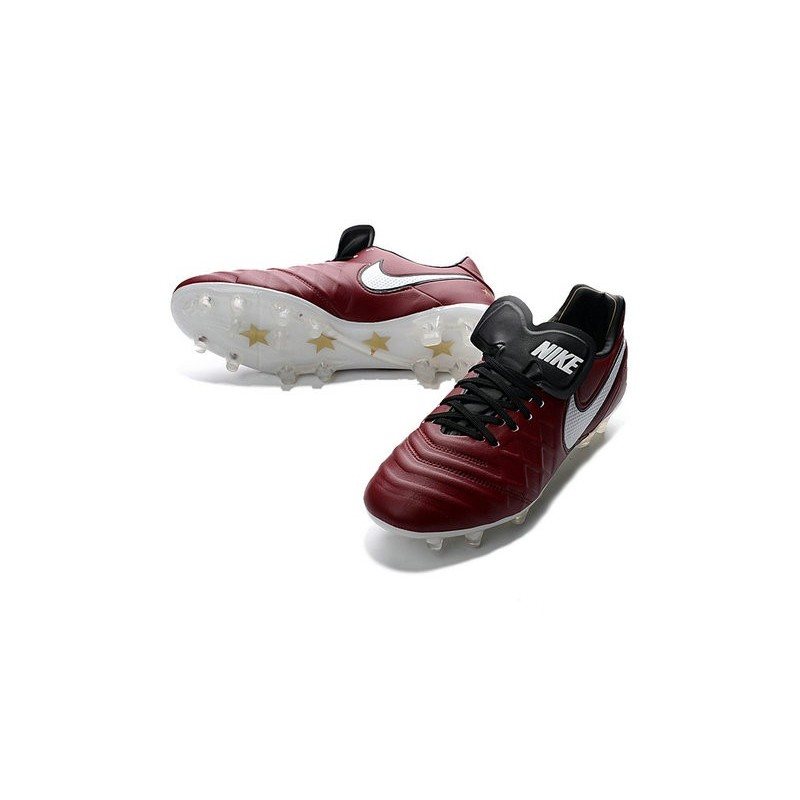 Nike Tiempo Legend VI FG ACC K-Leather Football Cleat Dark Red White