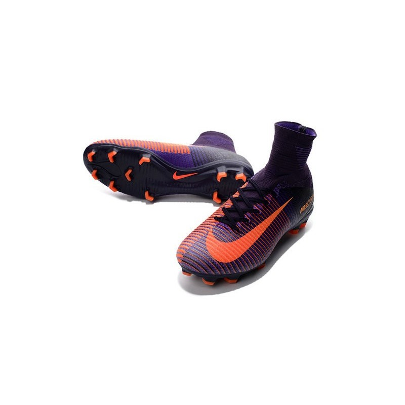 2650a0bd21d spain nike mercurial superfly v fg men soccer boots purple orange c22cd  0c8bb