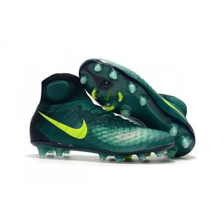 Nike Magista Obra 2 FG Mens Top Football Shoes Volt Jade