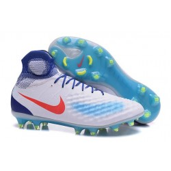 Nike Magista Obra 2 FG Mens Top Football Shoes White Blue