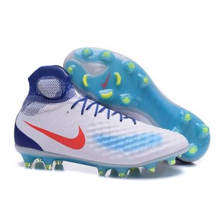 Nike Magista Obra 2 FG Mens Top Football Shoes White Blue