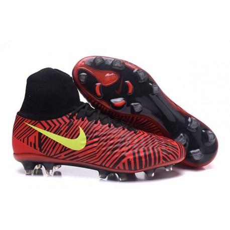 Nike Magista Obra 2 FG Mens Top Football Shoes Red Black Yellow