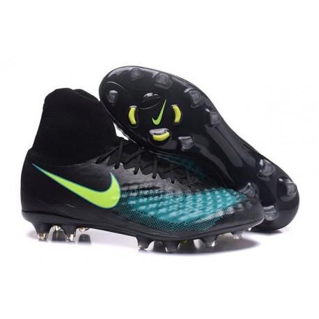 Nike Magista Obra II FG Firm Ground Soccer Cleat Black Blue