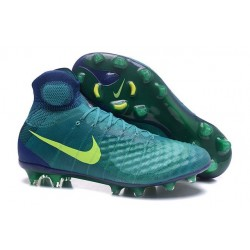 Nike Magista Obra II FG Firm Ground Soccer Cleat Jade Volt Obsidian