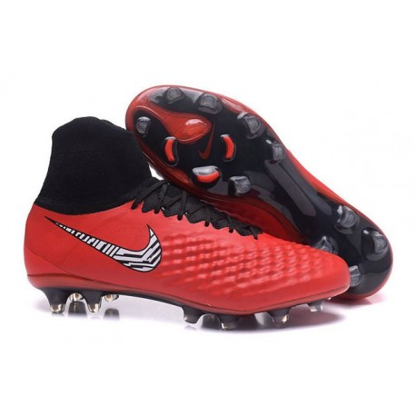 Nike Magista Obra II FG Firm Ground Soccer Cleat Red White Black