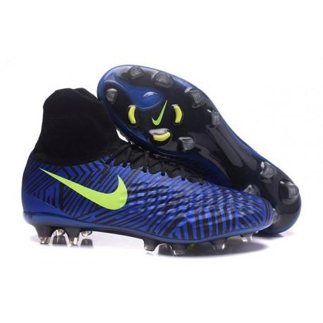 Nike Magista Obra II FG Firm Ground Soccer Cleat Blue Black Volt
