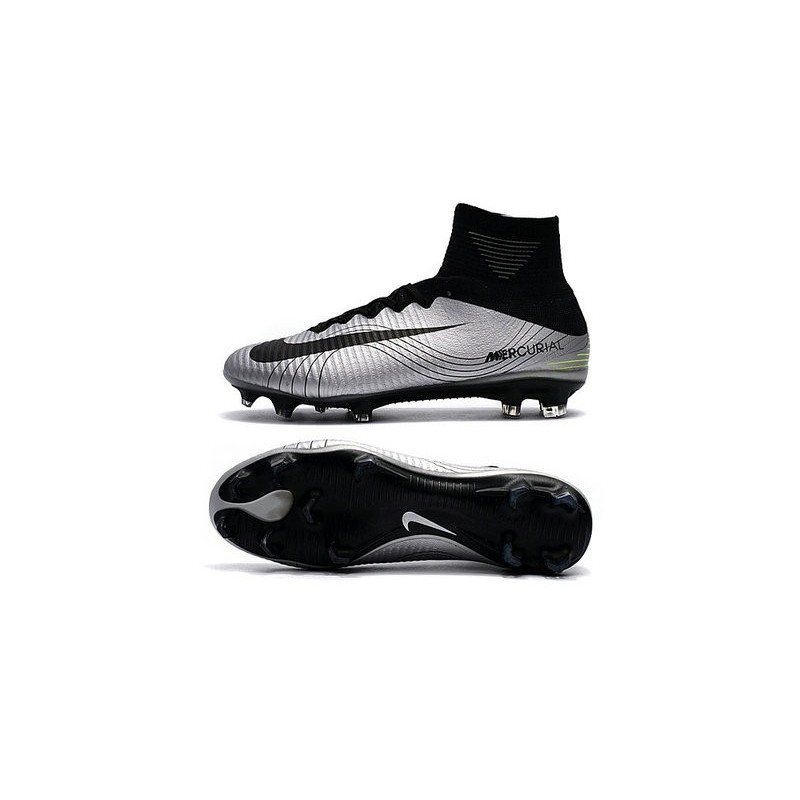 Nike Mercurial Superfly V FG Soccer Boot Silver Black
