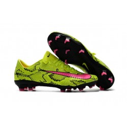 New Ronaldo Nike Mercurial Vapor XI FG Soccer Cleats Boa Yellow Pink