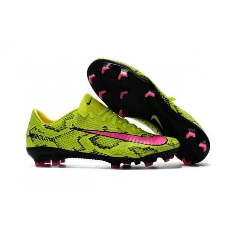 New Ronaldo Nike Mercurial Vapor XI FG Soccer Cleats Boa Yellow Pink