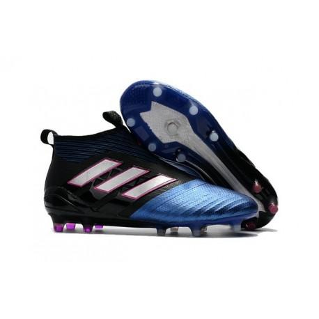 adidas ACE 17+ Purecontrol FG Men Soccer Cleats Blue Black White