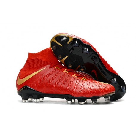 Top New Nike Hypervenom Phantom III DF FG Boots in Red Gold