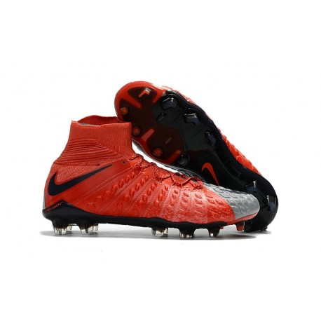 Top New Nike Hypervenom Phantom III DF FG Boots Red Grey Black