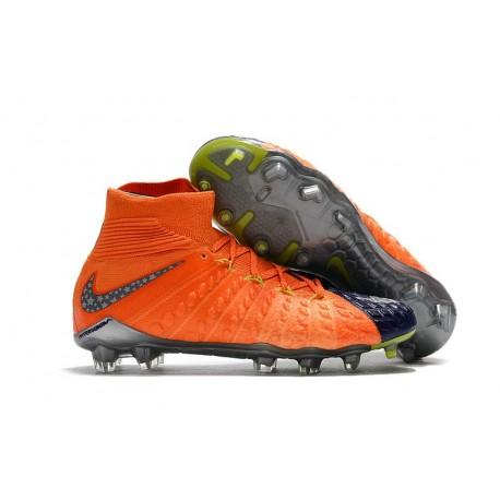 Limited Edition Nike Hypervenom Phantom III DF FG Boots - Star Blue Orange