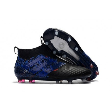 adidas ACE 17+ Purecontrol FG Dragon Firm Ground Boot - Black Blue
