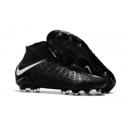 Nike Hypervenom Phantom III DF FG Tongueless Socccer Cleats - Black White