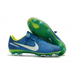 Nike Mercurial Vapor 11 FG Firm Ground Neymar Football Shoes Blue White