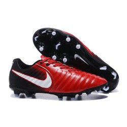 Nike Tiempo Legend VII FG 2017 Leather Soccer Cleats - Red White Black