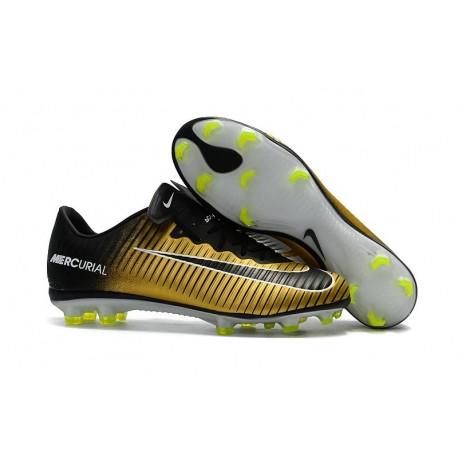 Nike Mercurial Vapor 11 FG Firm Ground Men Football Shoes Yellow Black