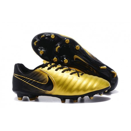 New Nike Tiempo Legend 7 FG K-leather Football Boots Gold Black