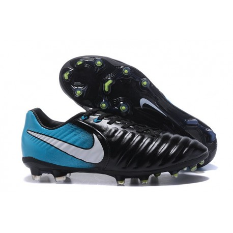 New Nike Tiempo Legend 7 FG K-leather Football Boots Blue Black