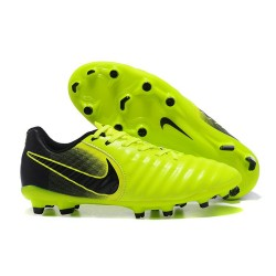 New Nike Tiempo Legend 7 FG K-leather Football Boots Green Black